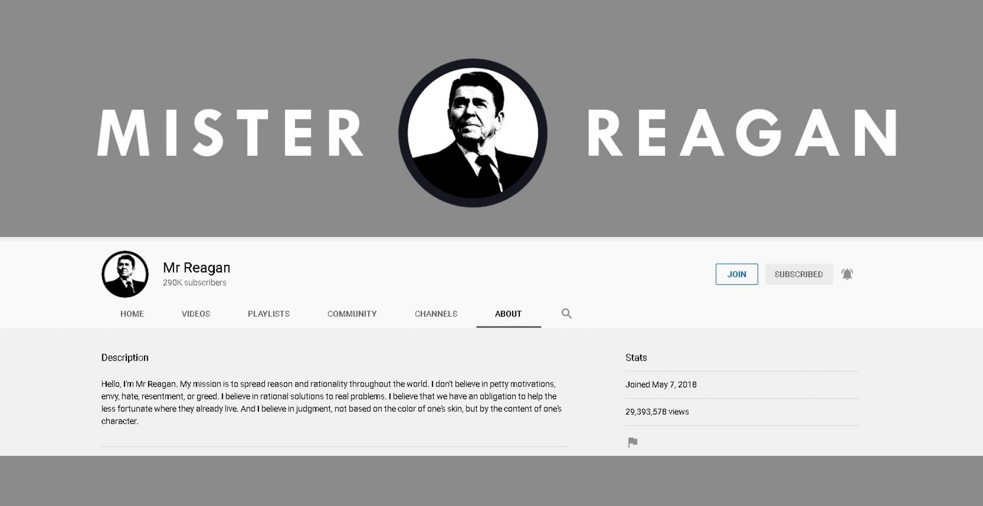 Mr Reagan